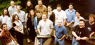 "Some of the crew of ""Santa vs. the Snowman"" in 1997."