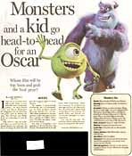 Monsters and a kid go head-to-head for an Oscar (page 1)