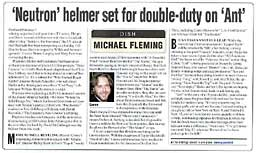 'Neutron' Helmer set for double–duty on 'Ant' (page 2)